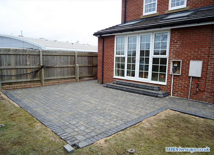 patio, step, edging