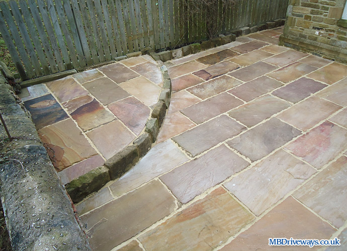 patio, path, paving, raised, edging