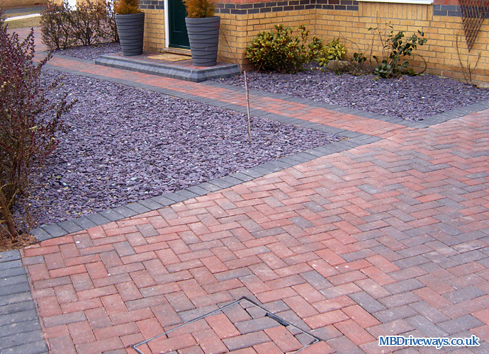 driveway, thomas armstrong, armpave, rectangle, recessed manhole cover, slate, edging, step, path