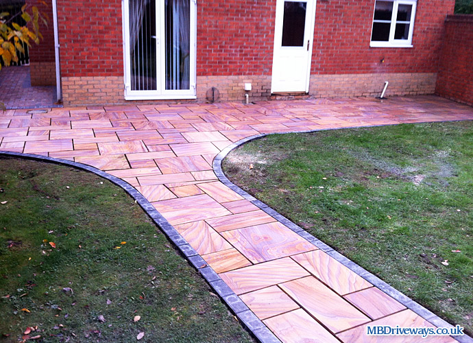 patio, path, natural, polished, sandstone, sand, stone, rainbow, tiles, flagstones