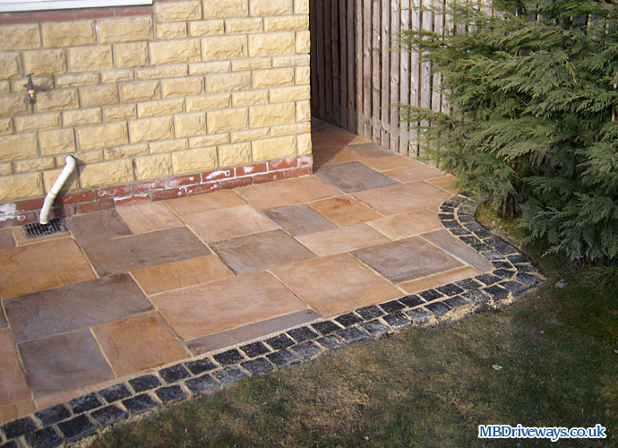 Patio, Edging, Bradstone, Old Riven, Flagstone, Paving, Border, Setts