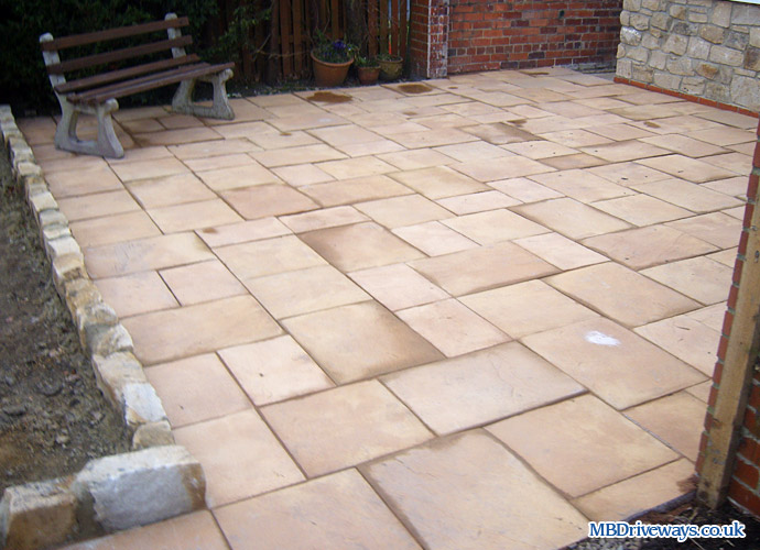 patio, edging, buff, paving, flags, flag stones