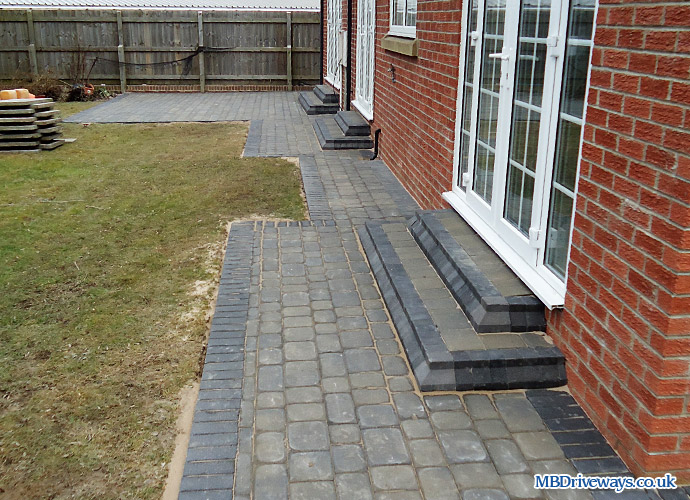 patio, step, steps, edging, paving, path